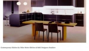 Kitchen Cabinet Refacing - Black
