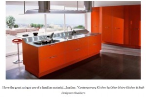 Kitchen Cabinet refacing - Red