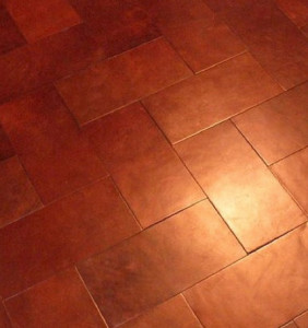 LEATHER TILES: floors and walls